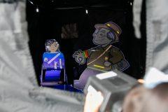 滋賀県交通安全協会 暗視体験コーナー